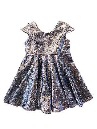 Celine Dress, Silver