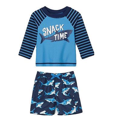 Hatley Shark Baby Rashguard Set