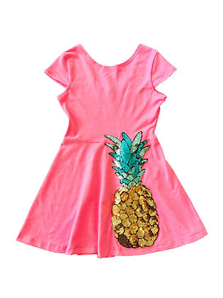 Play Skater Dress, Pineapple