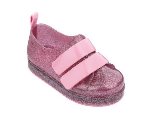 Mini Melissa Go Sneaker Pink Glitter