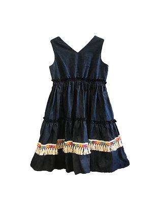 Three Tier Denim Dress