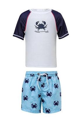 Snapper Rock Crabs Baby Swimsuit Set