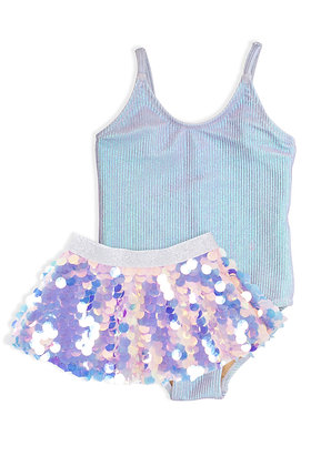 Shade Critters Lavender Rib Swimsuit