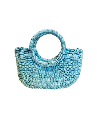 Straw Bag, Blue