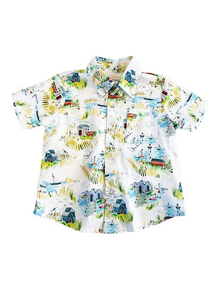 Boy Collared Shirt, Beachside