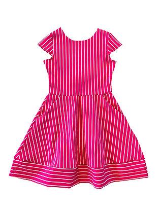 Kate Stripe Dress, Pink