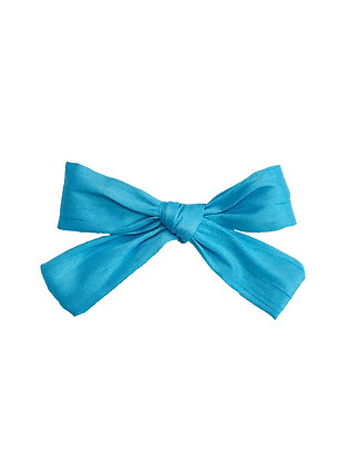 Fabric Bow Clip, Blue