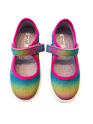 Level Rainbow Tennis Shoes