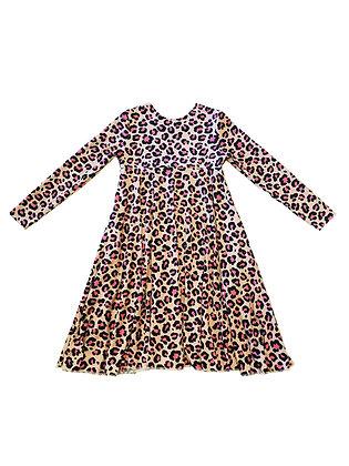 Emma Dress, Pink Leopard