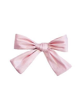 Fabric Bow Clip, Pink
