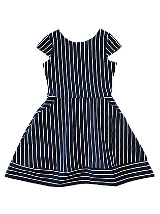 Kate Stripe Dress, Navy