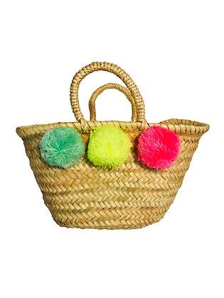 Sunuva Pompom Beach Basket