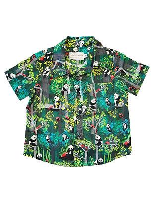Boy Collared Shirt, Panda