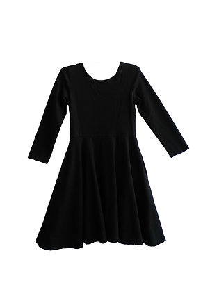Black Ballerina Skater Dress