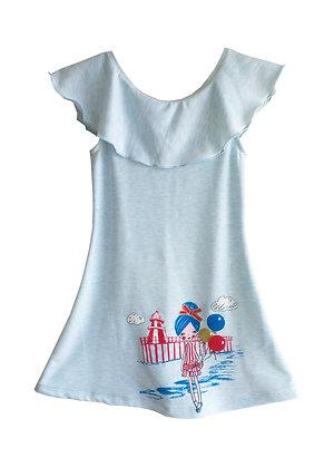 Seaside Ruffle Collar Dress