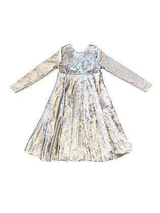 Velvet Emma Dress, Silver