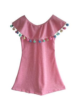 Popsicle Ruffle Collar Dress
