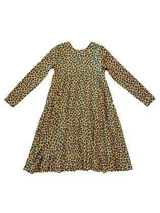 Emma Dress, Mustard Leopard
