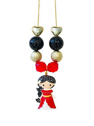 Red Dress Princess Charm Necklace