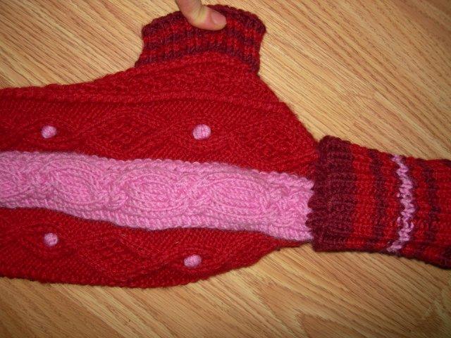 пример узора на свитере