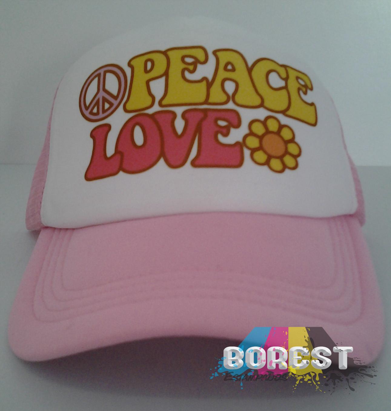 GORRA PEACE LOVE $15.000