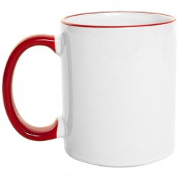 Mug  Borde de Color 11 Oz Rojo.jpg