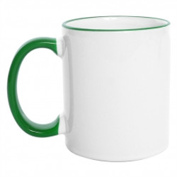 Mug Borde de Color 11 Oz Verde.jpg