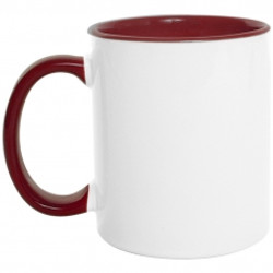 Mug  color interno y oreja 11 Oz Vinotinto.jpg