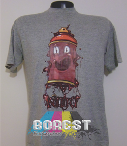 camiseta aerosol