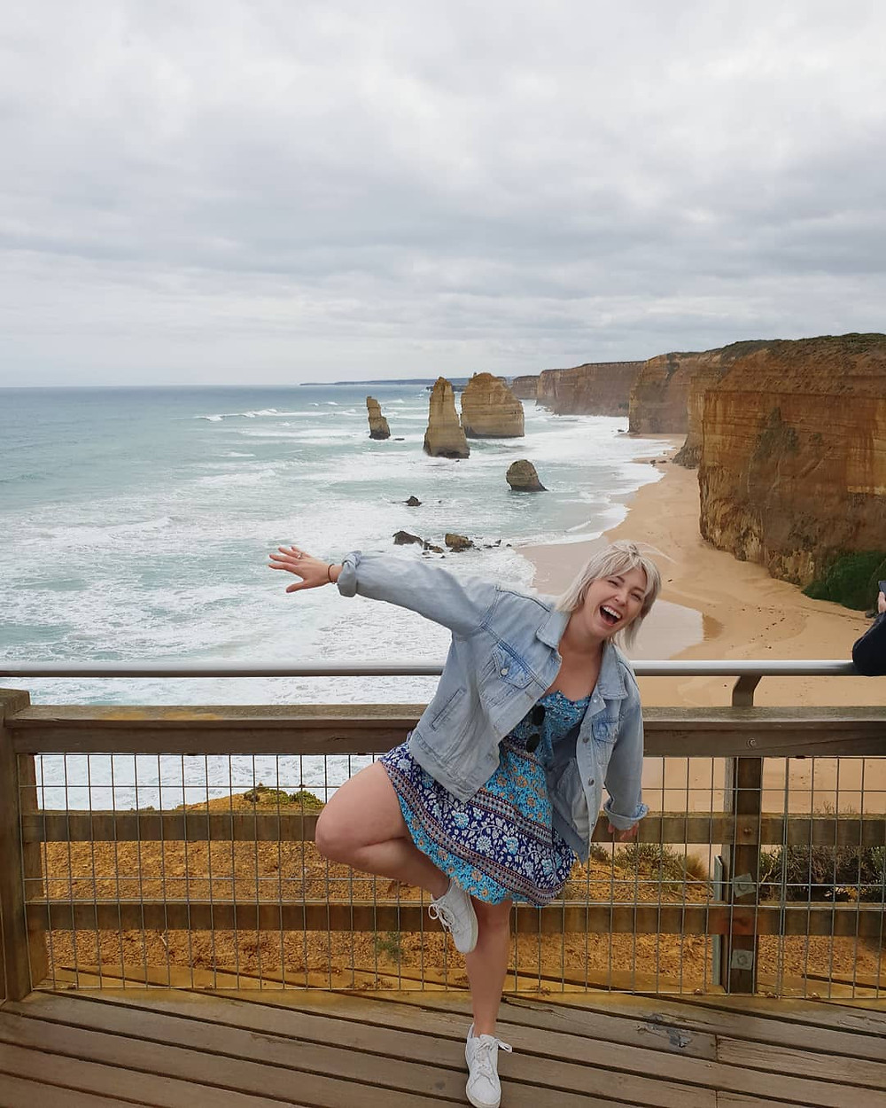 Great ocean road, too windy for yoga