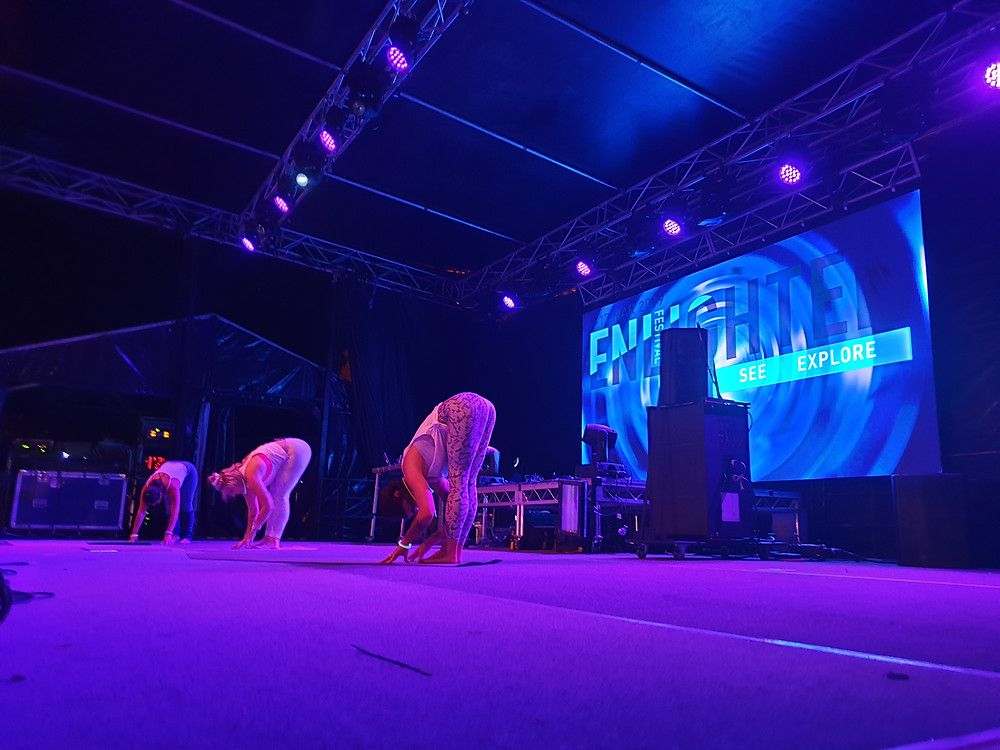 Enlighten Festival Canberra Glow in the dark yoga with Joga Yoga