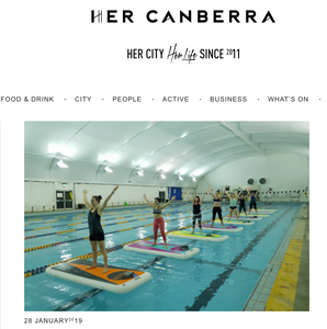 Float Yoga in Canberra with Joga Yoga HerCanberra article