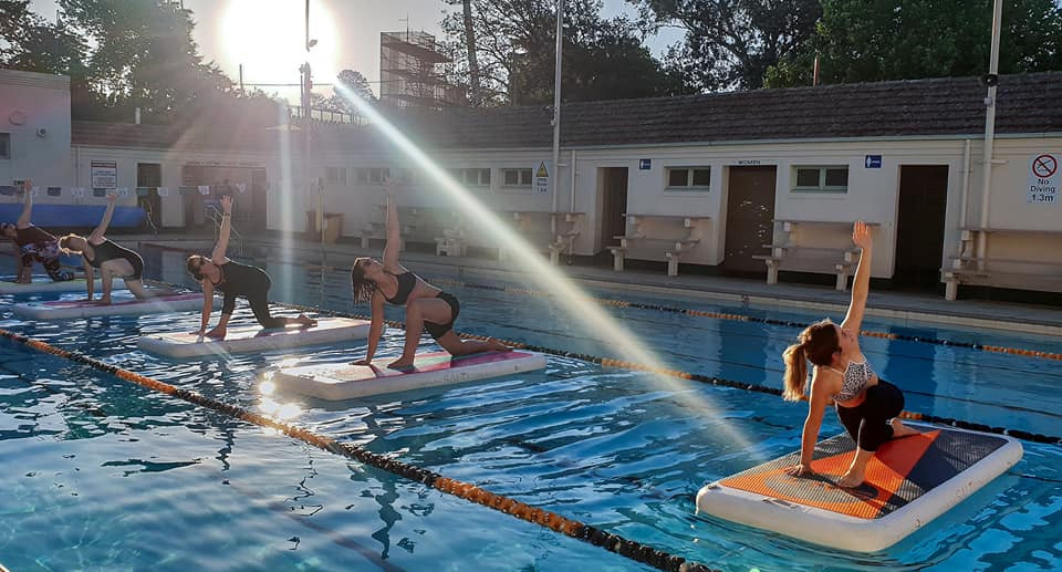 Float yoga at Manuka Pool