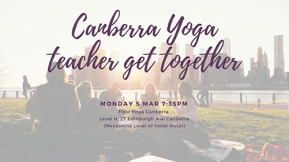 Canberra yoga teacher get together