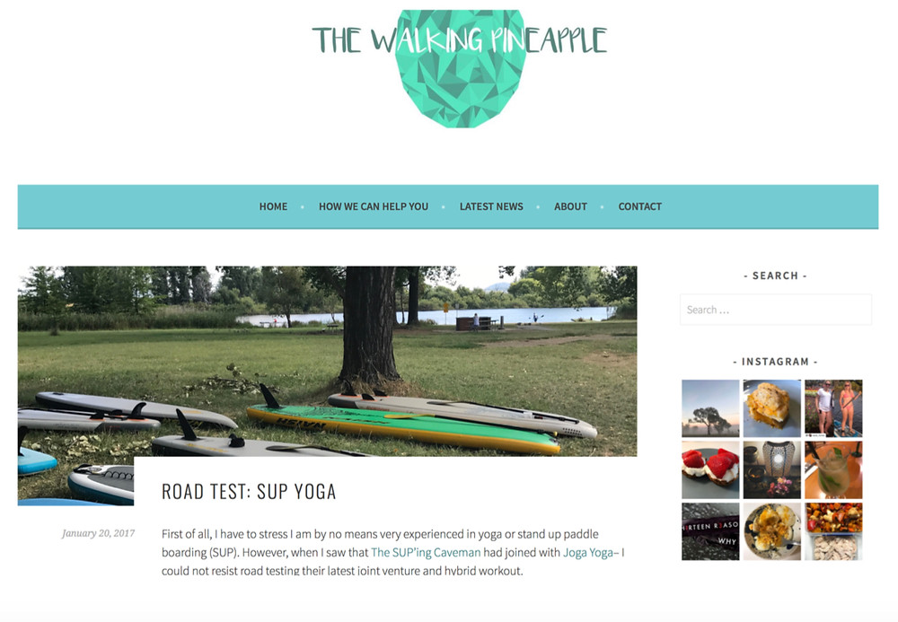Blog feature road test by the Walking Pineapple