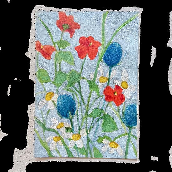 Mini Floral Blue 2
