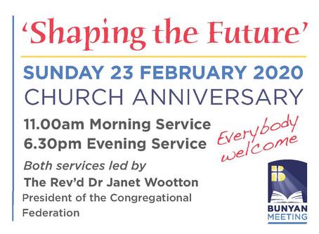 Shaping the Future at Bunyan Meeting