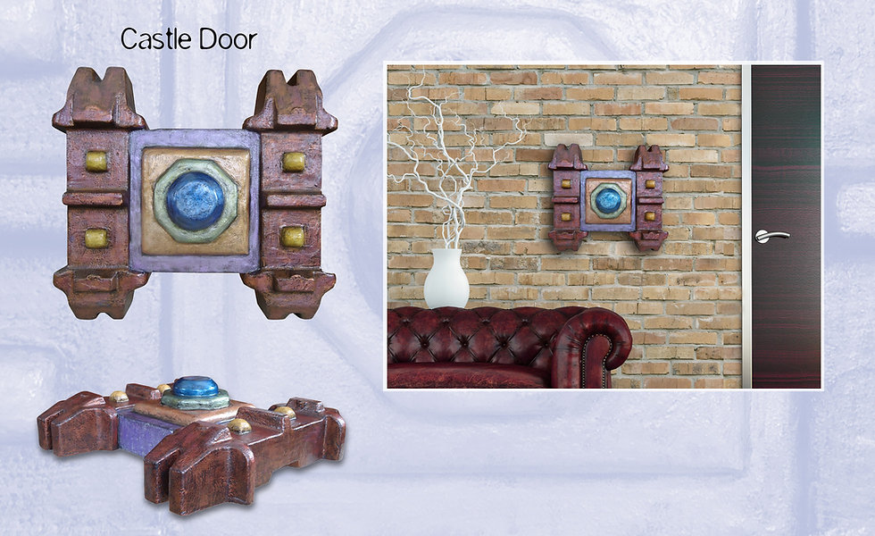 "3-D custom wall sculpture art by di Boor Art. ""Castle Door"". Gallery image."