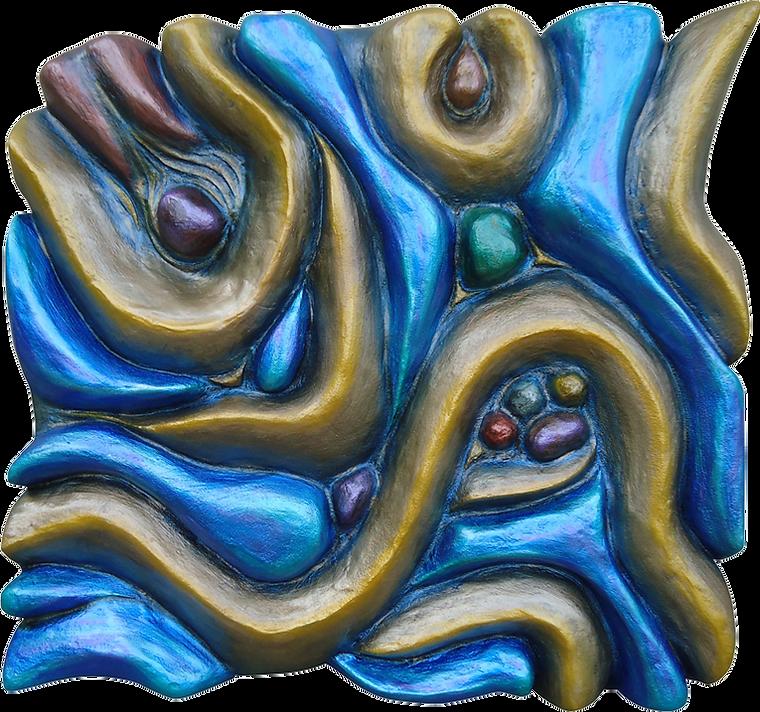 "3-D custom wall sculpture art by di Boor Art. ""Low Tide"". Gallery image."