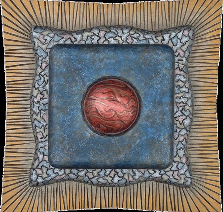 "3-D custom wall sculpture art by di Boor Art. ""3-Rock Pendant"". Gallery image."