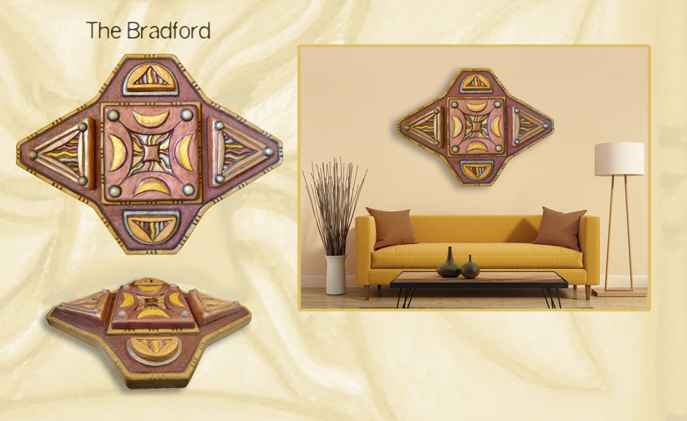 "3-D custom wall sculpture art by di Boor Art. ""The Bradford"". Gallery slide."