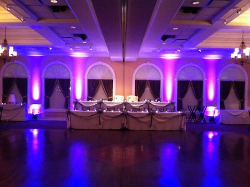 Reception room with led lightscaping