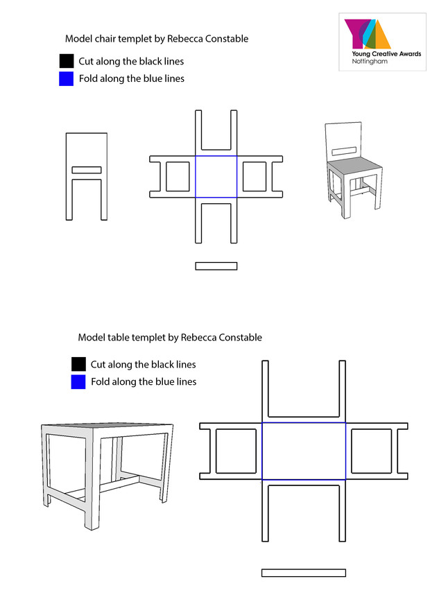 Table and Chair Templet
