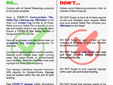 DOB Guidance on DOs and DON'Ts for the Construction Industry