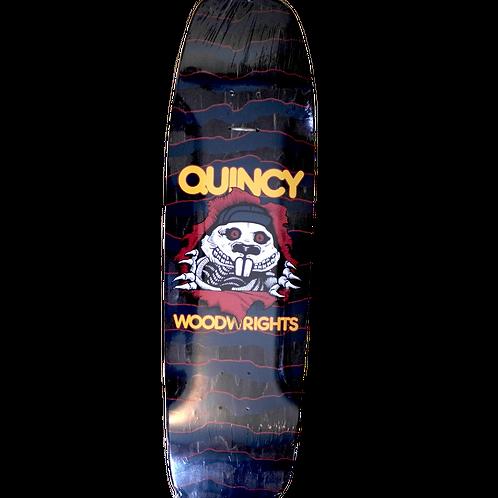 Quincy Woodwrights Gripper skateboard deck 8.75