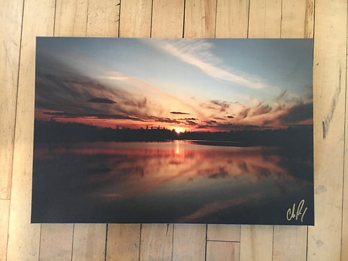 Section 12 Lake Sunset 12x18 - by: Chris Perry