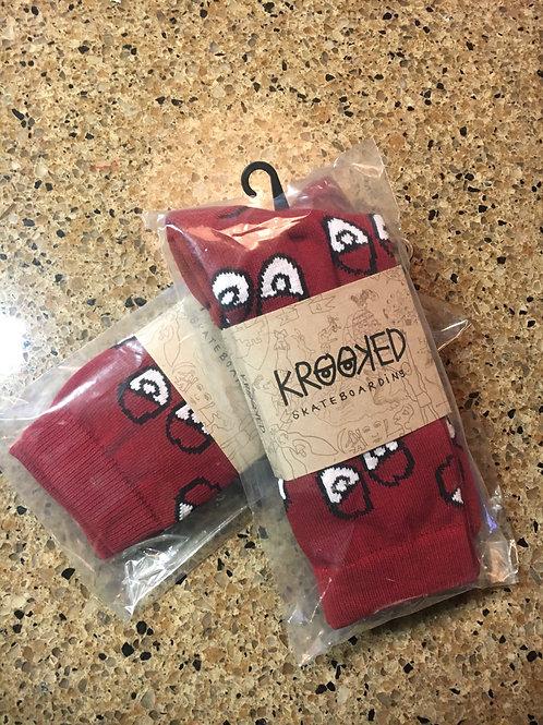 Krooked Socks - Maroon Eyes
