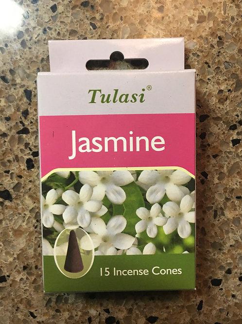 Tulasi Jasmine Cone Incense