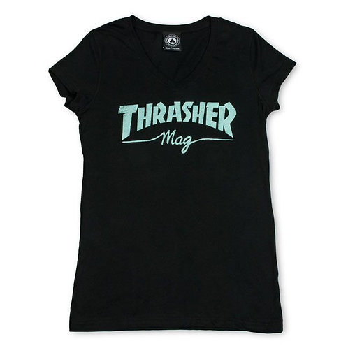 Girls Thrasher Mag V-Neck T-Shirt