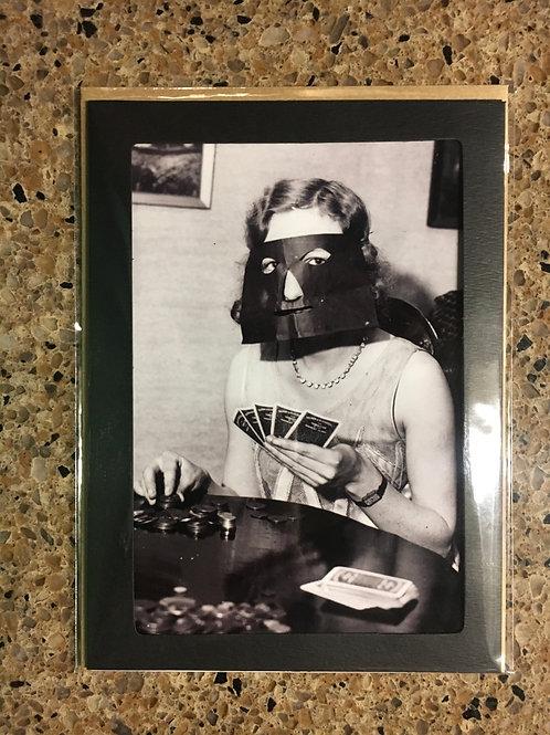 Poker Face - 5x7 photo card